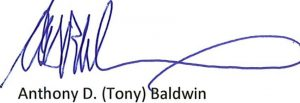 Tony Baldwin Signature